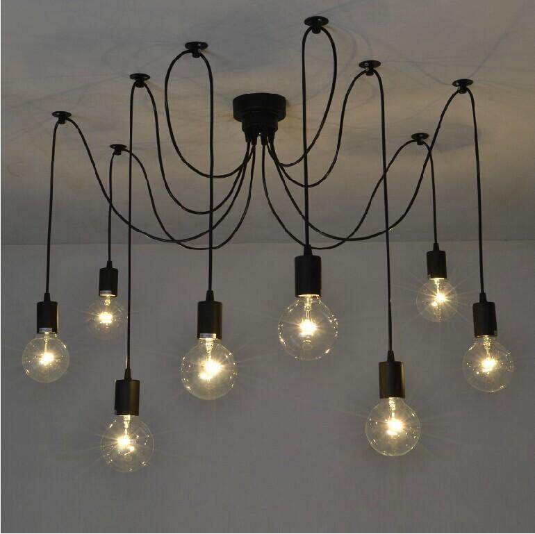 Contemporary Edison Chandelier Light Pendant Lamp Ceiling