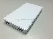 OEM 2 USB output best selling promotional gift power bank 10000mah with cable