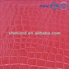 Crocodile Skin Embossed Pattern PVC Bag Leather
