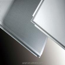Suspended aluminium ceiling panel