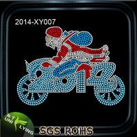 Cool Santa Claus riding motocycle rhinestone christmas new hot items for 2014