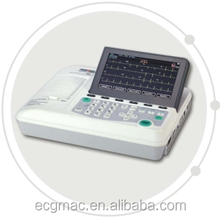 Digital 3 channel ECG machine support External printer and Linear Barcode storage up to 10000 ECG reports
