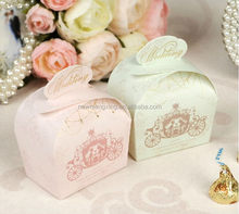 New style promotional wedding favors laser cut candy boxes
