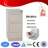 Office Furniture file storage vertical gray metal 3 drawer cabinet Top Sale Metal 3 Drawer File Cabinet 3 drawer File cabinet A4