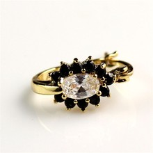 Very Beautiful Designs Brass Material Zircon Inlay 18K Gold Plated Hoop Earrings