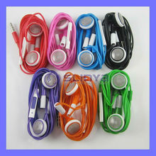 3.5mm Headset For iPhone 5S 5C 5G 4S iPod iPad Earphone with Volume Controul