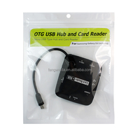 OTG USB hub card reader for Samsung Galaxy S3/S4/Note2/NOTE3 read card SD/TF/M2