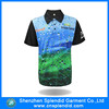 2015 new coming pattern design sublimated 100% polyester sports polo t-shirt small order