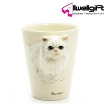 Promotion 3D Design Ceramic Animal Shaped Mug 3D Cat Face Mug