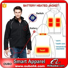Mens Winter Jacket Coat Cheap Wholesale OEM latest design heated jacket for man with Carbon fiber heating pads Warm OUBOHK