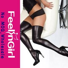 Fashion 2PC Sexy Black PVC Stockings
