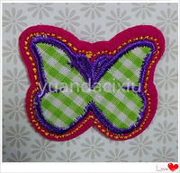 Factory hot sale child fringe embroidery designs and embroidered eagle patch