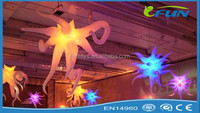 various colors led light inflatable seaweed/inflatable artificial seaweed decoration for house decoration