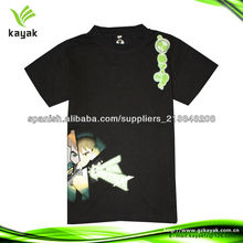 diseño moderno negro mayor del algodón del cuello redondo de la camiseta camisetas para los niños