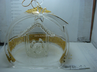 Wholesale clear glass christmas balls ornaments for xmas decorations