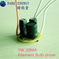 LED driver 5W 20MA power supply for GU10/GU5.3/E27 bulb