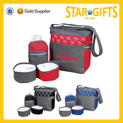 Wholesale Pet accessory bag with collapsible bowls and detachable zippered case
