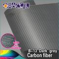 Alta calidad auto cuerpo etiqueta engomada de la fibra de carbono envuelve la película