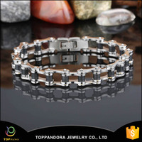 2016 new coming fashion bike chain stainless steel jewelry fashion bracelet gold hand chain fashion design