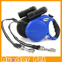 High Quality Retractable Dog Leash Pet Lead 5 m with Lights Blue and Black Dog Accessories