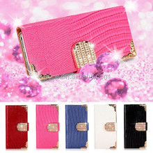 Luxury Bling Wallet Leather For Huawei Ascend G6 Case,For-Huawei-Ascend-G6-Case