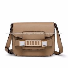 2015 fashion pu pvc khaki bag wholesale brand leather handbag
