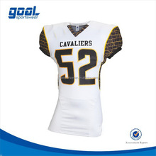 Fashion design outdoor american football tops with team names and numbers
