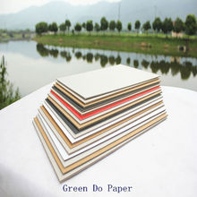 Color board paper laminated solid