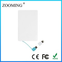 just 6.6 mm thickness micro socket universal small power bank with fc ce rohs