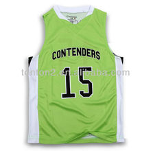 2013 Sublimated Custom Print Basketball Tops