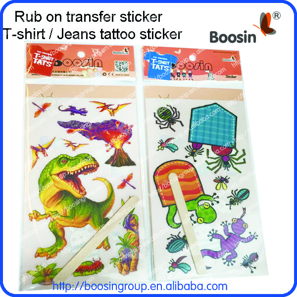 Rub On Scratching Transfer Sticker Kids Rub On Transfer