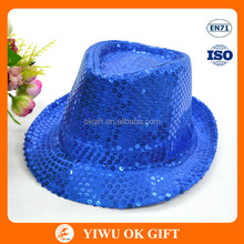 Yiwu Suppliers Party Accessories Blue Sequin Hat