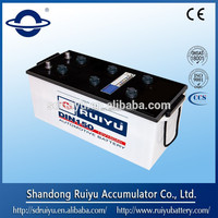 DIN&JIS standard dry charged battery for automobile