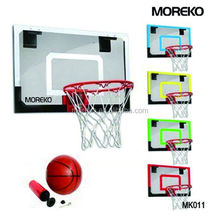 "Mini Basketball Backboard with 18"" Colorful PC Backboard,Spring Ring/Rim MK011"