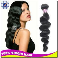 "10pcs lot 18"" real tangle&SHIPPING free brazilian virgin human hair weave Loose wave"