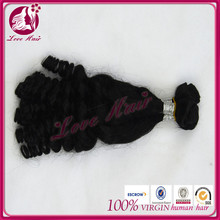 Most welcomed baby like perfect fummi curl permanent natural black hair brazilian hair indian hair extensions
