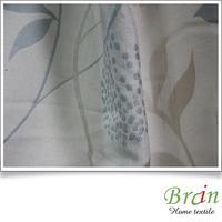 Good colour poly cotton jacquard shiny blackout curtain fireproof fabirc