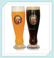 Germany priest beer glass with logo mouth blown lead free crystal 500ml beer glass cup for sale