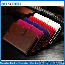 Crazy horse wallet leather case for ZenFone2, leather phone case for ASUS ZenFone 2