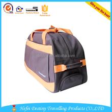 2015 hot sale 2 wheels outdoor waterproof duffle travel bag trolley