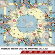 Digital printing cotton fabric with ducks