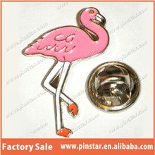 high quality cheap soft enamel pink Flamingo lapel pin animal lapel pin