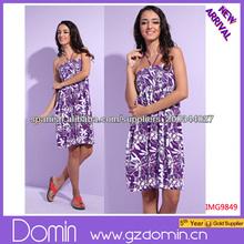 Moda para mujer vestido halter Jacquard Impreso 2014 flor del vintage de los vestidos ocasionales