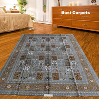 contemporary persian fashion handmade silk rugs big size 6x9ft