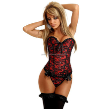 2015 Sexy Wedding Lingerie Corselet Lace Floral Women Bra Set Corset Bustier Waist Shaper Corset with G-string Shapers