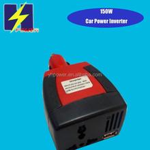 150W car power inverter 12v to 220v USB 5V 2.1A use for laptop,car navigation,freazer