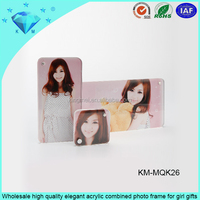 Wholesale high quality elegant acrylic combined photo frame for girl gifts