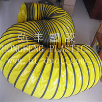 pvc coated polyester fabric flexible tunnel ventilation duct,pvc flexible duct
