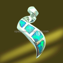 Snake Shaped K5 Opal Rhodium Plated 925 Sterling Silver Pendant Supplier
