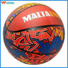 Hot sale league 6# cheap rubber basketball